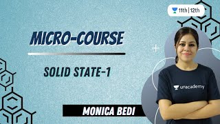 CBSE Class 12: Micro Course on Solid State-1 | Unacademy Class 11 & 12 | Monica Bedi - MONICA