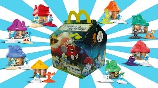 2017 SMURFS The Lost Village Happy Meal Toys European SMURFS Movie Kids Meal Figures PART 1