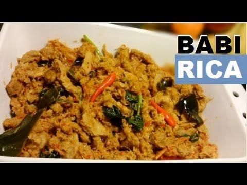 Video Resep Babi Rica Enak (Delicious Rica Pork Recipe)