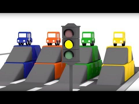 Lehrreicher Zeichentrickfilm - Die 4 kleinen Autos - Das Autorennen