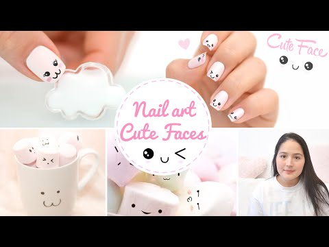 Nail art Kawaii Japan Expo ♡ Cute faces かわいい