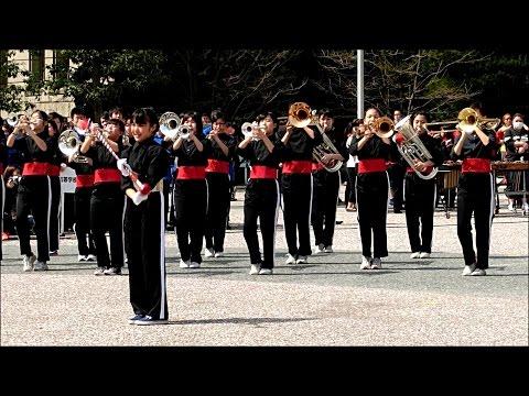 京都さくらパレード2015 京田辺市立田辺中学校吹奏楽部