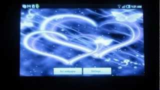 Hearts purple butterfly live wallpaper - App review by ReviewBreaker