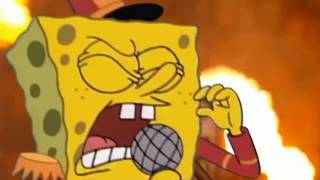 Spongebob preforms Sweet Victory during the Half-Time show