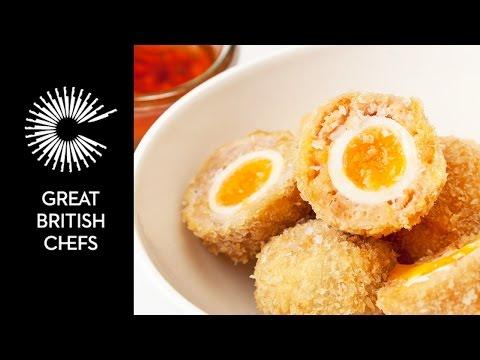 Video Quail Scotch Eggs and Dipping sauce - Galton Blackiston