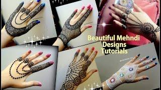 How to apply easy simple jewellery inspired Mehndi Designs for hands  Eid ,weddings