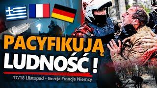 PDR PACYFIKUJĄ ludność❗Totalitaryzm w EUROPIE?☠️Zamieszki: Niemcy, Grecja, CENZURA GLOBALNA we Francji📛