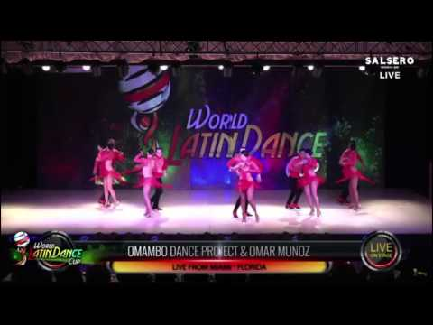 The Professional Team competing in 2015, winning 1st place for the second year in a row at the World Latin Dance Cup