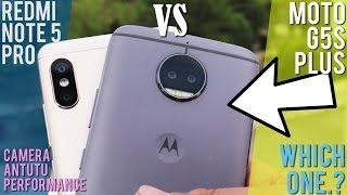 REDMI NOTE 5 PRO VS MOTO G5s PLUS HINDI COMPARISON [ft. Xiaomi Mi A1]