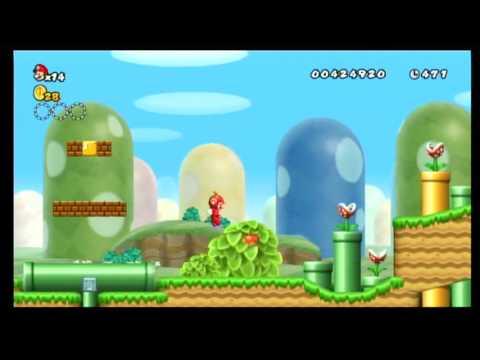 New Super Mario Bros Wii Walkthrough World 8 7 Speed Run By
