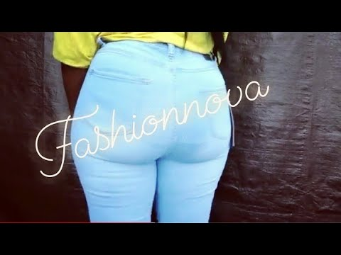Fashion Nova HIGH Waisted jeans try on and review