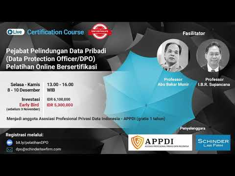 Become a certified Data Protection Officer in Indonesia - YouTube