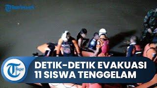 Detik-detik Evakuasi 11 Siswa Tenggelam saat Susur Sungai di Ciamis, Warga Ikut Menyelam Bawa Obeng