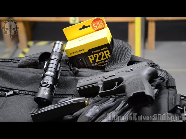 Nitecore P22R flashlight test