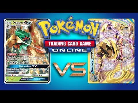 Decidueye GX / Zoroark GX vs Greninja BREAK – Pokemon TCG Online Game Play