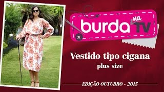 burda na TV 62 – Vestido tipo cigana plus size