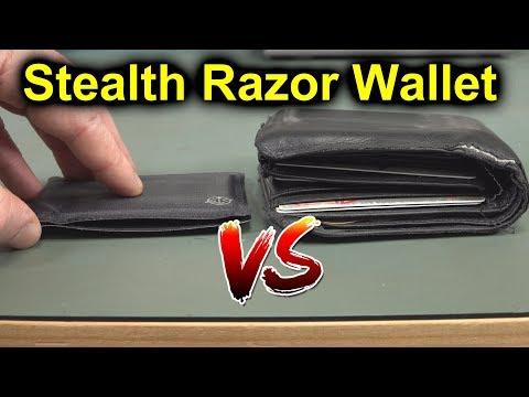 EEVblog #1250 - World's Thinnest Wallet Review - Stealth Razor