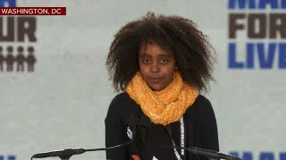 11 year old Naomi Wadler's powerful #MarchForOurLives speech
