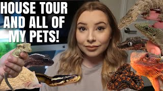 Tour Of My Personal Zoo! | House Tour + All My Pets!