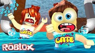ПОЛ ЭТО ВОДА НОВЫЙ ЧЕЛЛЕНДЖ В РОБЛОКС игра Family Fun Kids  CHALLENGE ROBLOX Flood is Lava