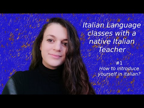 Free italian lessons for beginners #1