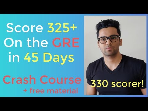 GRE Crash Course | Score 325+ in 45 Days | No Coaching Required