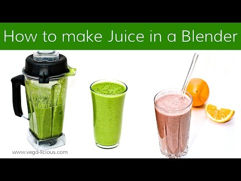 Video HOW TO MAKE JUICE WITH A BLENDER