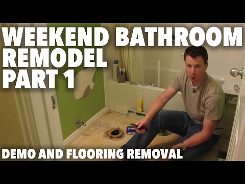 Weekend Bathroom Remodel Part 1: Demo and Flooring Removal