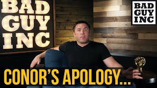 Was Conor Mcgregor sorry or sorry he got caught?