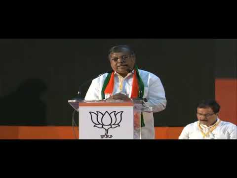 Hon. Chandrakant Dada Patil addresses BJP Karykarta at Goregaon NESCO