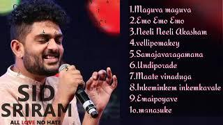 Sid Sriram Super Hit Songs 😍|| Best Telugu Songs 🎶🎼