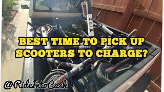What is the best time to charge bird and lime scooters? - RideIntoCash