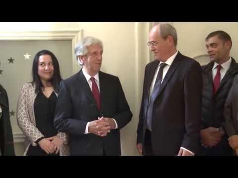 El Presidente Vázquez visitó la Delegación de la UE