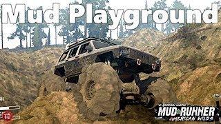 SpinTires MudRunner: MASSIVE Mud and Sand PLAYGROUND!!   New Map