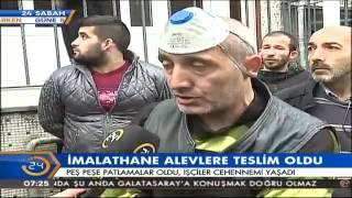 istanbul bayrampaşadaki imalathanede büyük çaplı hasar