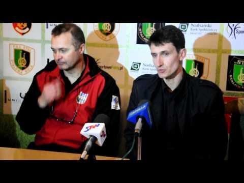 Konfernecja prasowa po meczu Stal Stalowa Wola - Stomil Olsztyn
