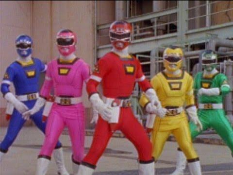 Power Rangers Turbo - First Morph and Fight (Power Rangers vs Piranhatrons)