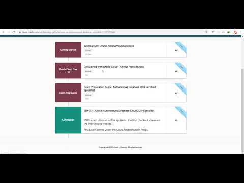 FREE Online Learning and Certifications for Oracle - YouTube