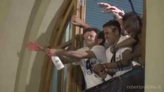 preview picture of video 'Palermo,arrivo della squadra e la festa allo Stadio Renzo Barbera 2014'