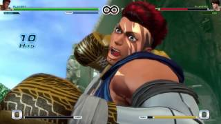 King Of Fighters 14 Nelson combos and resets