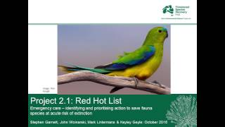 Red hot red list: Australia's most threatened species - Stephen Garnett  (October 2016)
