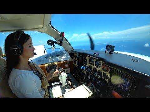 THE CALM BEFORE THE STORM! - Baron Flight to Freeport, Bahamas