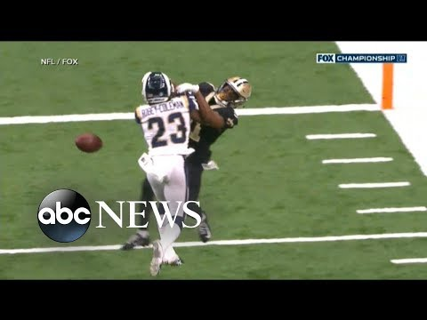 Saints Vs Rams Robey Coleman Gets Away With Pass Interference Worst Officiating In Nfl History