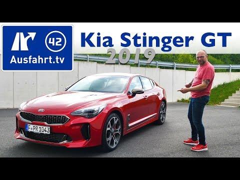 2019 KIA Stinger 3.3 T-GDI V6 AWD - Kaufberatung, Test deutsch, Review, Fahrbericht Ausfahrt.tv