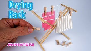 DIY Realistic Miniature Drying Rack | DollHouse | No Polymer Clay!