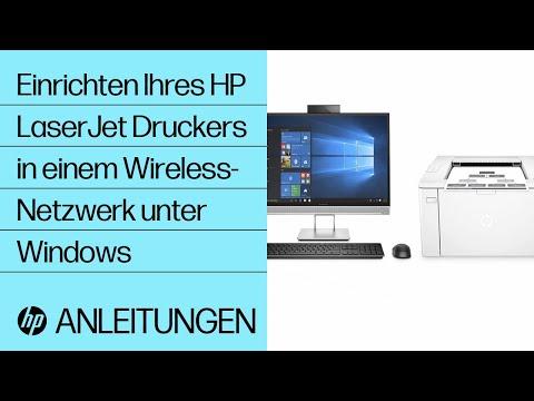 Einrichten Ihres HP LaserJet Druckers in einem Wireless-Netzwerk unter Windows