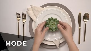 10 Wedding Place Setting Ideas ★ Mode.com