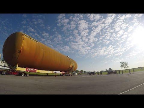 Last unflown space shuttle fuel tank leaves New Orleans