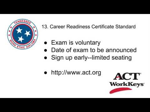 Standard 13. Career Readiness Certificate - YouTube