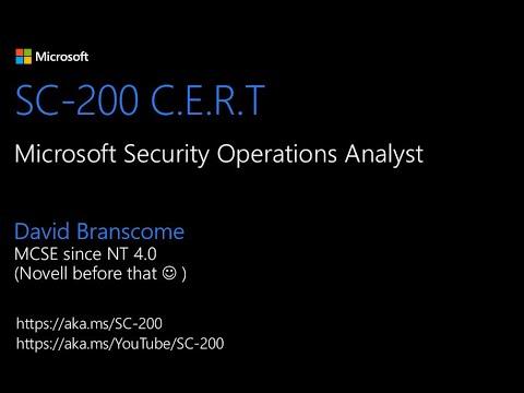 SC-200 Microsoft Security Operations Analyst Exam - YouTube